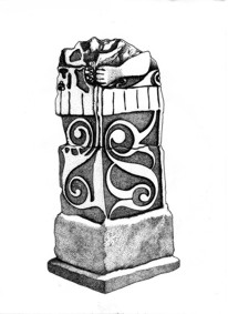 German Celtic stone totem pillar.